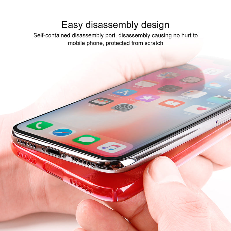 BASEUS Brand Laser Optical Dazzling Back Case For Apple iPhone X High Precision CD Texture Cases - Hot Phone Tech