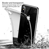 Baseus Half Transparent Case For iPhone XS/X XSMAX XR Soft Silicone Hard PC Hybrid Protective Cover - Hot Phone Tech