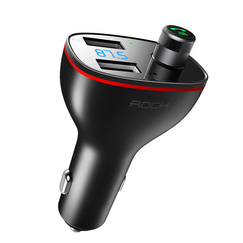 ROCK Dual USB Car Charger B300 Bluetooth 4.2 FM Transmitter Digital 3.4A Intelligent Distribution Current Fast Quick Charging For iPhone Samsung Sony LG HUAWEI Google - Hot Phone Tech