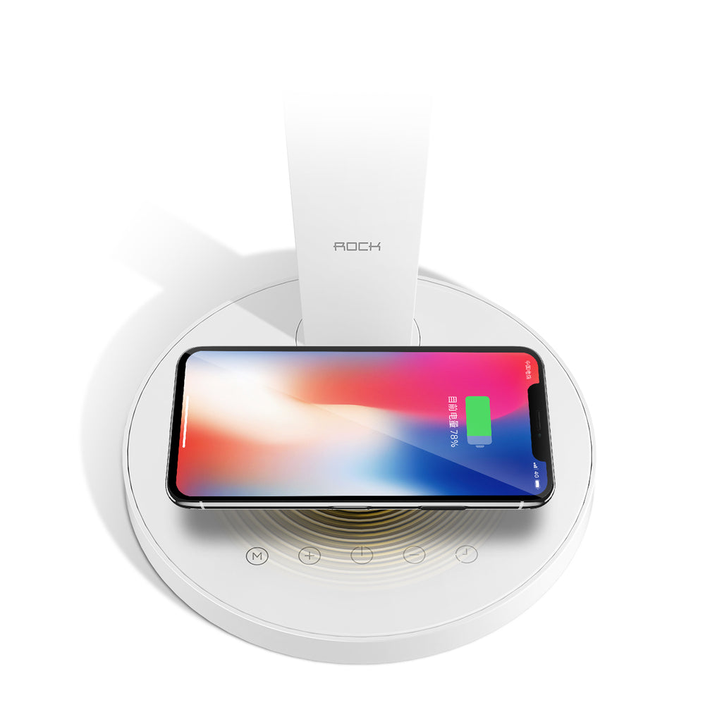 ROCK Wireless Charger Pad Desktop Lamp for Samsung iPhone Sony LG HUAWEI Google  Fast Charging Adjustable Touch Table Light with Wireless Chargers - Hot Phone Tech