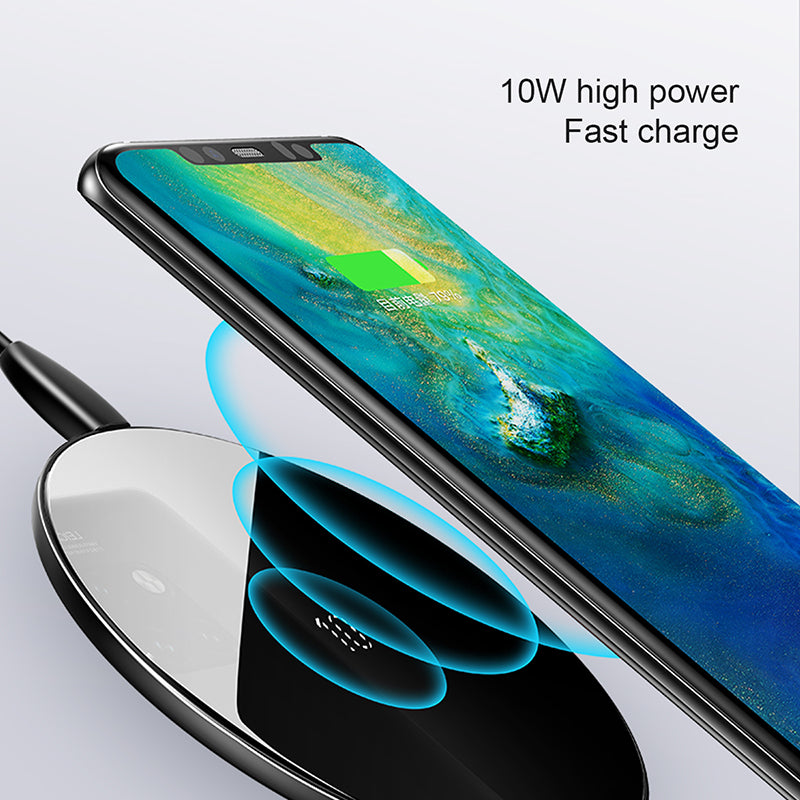 Baseus 10W Qi Wireless Charger Fast Wirless Wireless Charging Pad For iPhone Xs Max X 8 Samsung Google HUAWEI LG Sony Sony - Hot Phone Tech