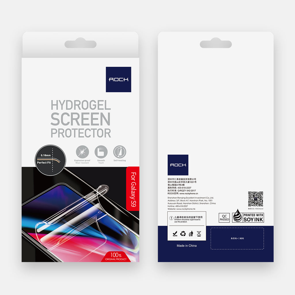 ROCK 0.18mm Screen Protector For SAMSUNG Galaxy S9 Plus / S9 Hydrogel For Samsung SAMSUNG Galaxy s9/S9 Plus EDGE soft Film - Hot Phone Tech