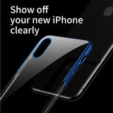 Baseus Clear Transparent Case For iPhone XS MAX XR XS/X Luxury Hard PC Plating Protective Coque Back Cover Fundas - Hot Phone Tech
