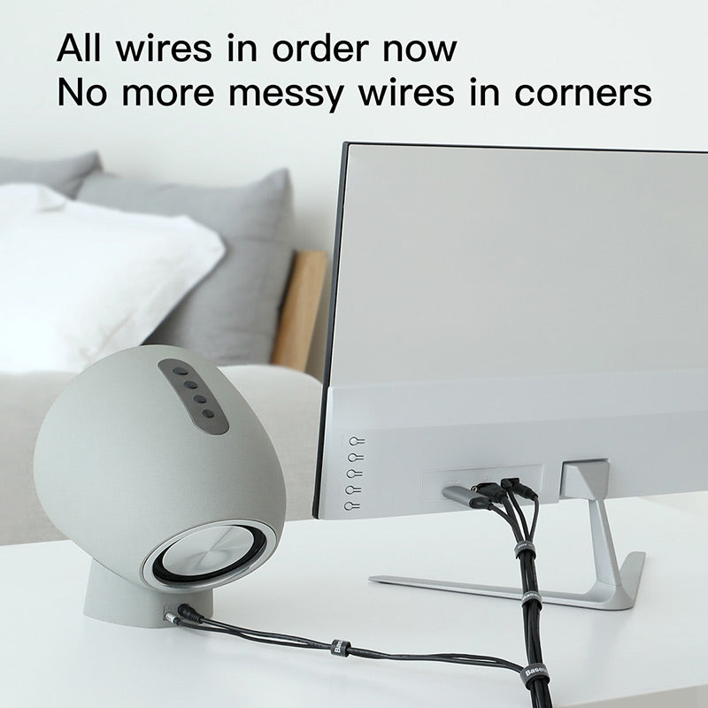 Baseus USB Cable Organizer Wire Winder Free Cut Management Cable Earphone Mouse Cord Clip Protector for iPhone Samsung USB Cable - Hot Phone Tech