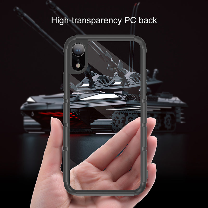 Baseus Luxury Case For iPhone XR Silicone PC Hybrid Shockproof Protective Back Cover Armor Tank Case - Hot Phone Tech