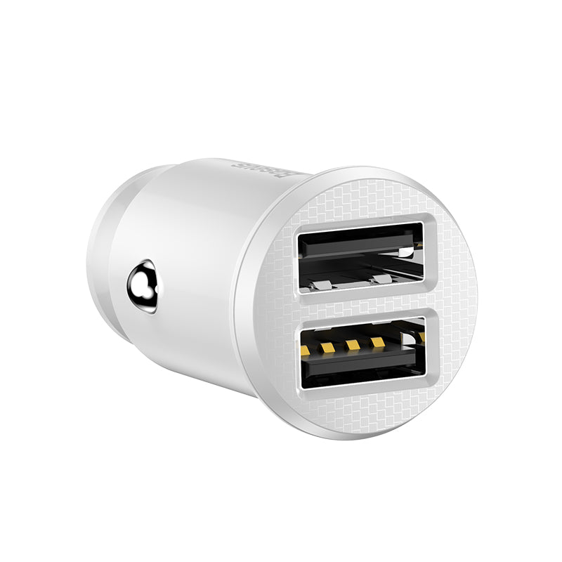 Baseus Mini USB Car Charger For iPhone Fast Car Phone Charger Dual USB Phone Charger In Car For iPhone LG Google Samsung Xiaomi Huawei - Hot Phone Tech
