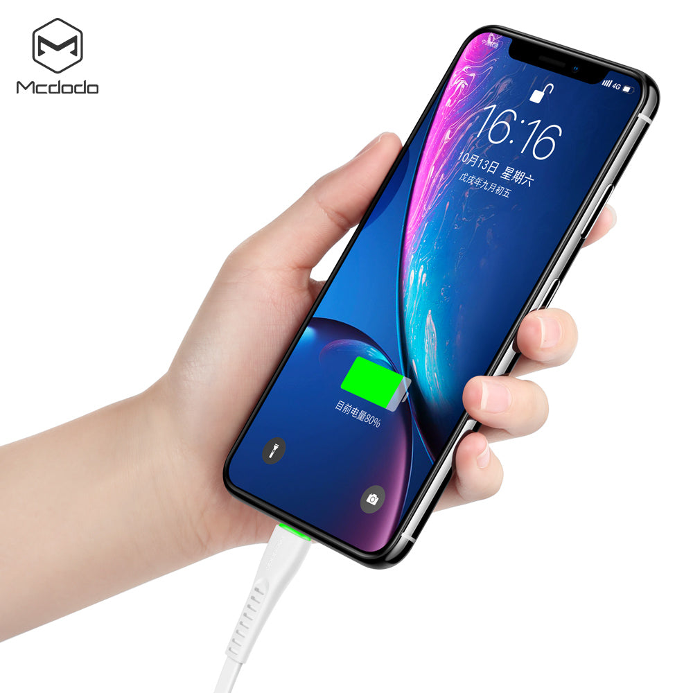 Mcdodo Flying Fish Series USB Cable Fast Charging Cable Mobile Phone Charger Cord Usb Cable For iPhone Apple X XS MAX XR 8 7 6 6s plus - Hot Phone Tech