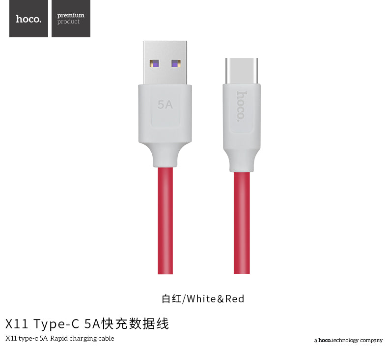 HOCO USB 5A Type C Cable for Huawei Samsung LG HTC Google lite V10 USB 3.1 Type-C Supercharge Super Charger Cable - Hot Phone Tech