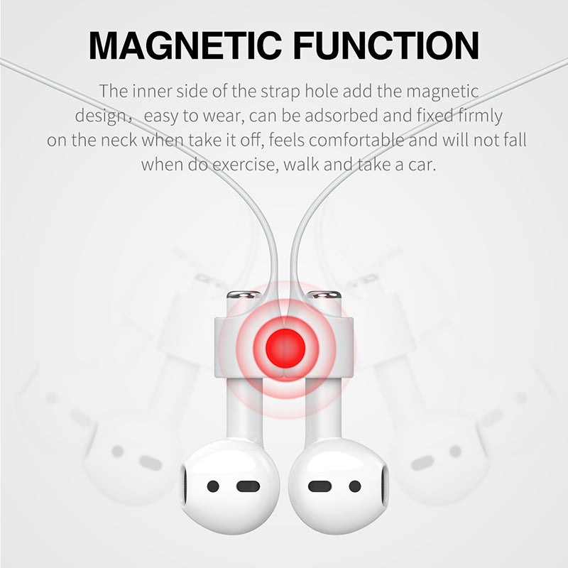 Baseus Silicone Earphone Strap For Apple Airpods Airpod Anti Lost Strap Magnetic Loop String Rope For Air Pods Pod Accessories - Hot Phone Tech
