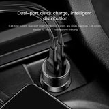 Baseus 3.4A Dual USB Car Charger For iPhone XS MAX XS XR X Samsung LG Google HTC HUAWEI iPad 2 Port LED Car Mobile Phone Charger Fast Car Charging Charger - Hot Phone Tech