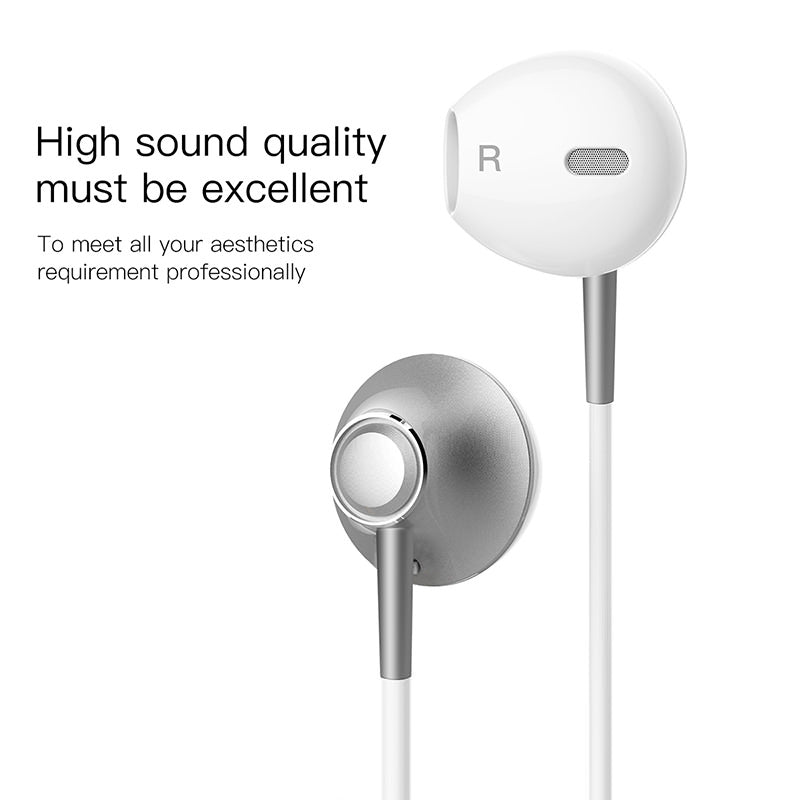 Baseus Wired Earphone For Phone In Ear Earphone With Mic Stereo Headset Earbuds Earpiece For Samsung Xiaomi Sony LG HUAWEI Google - Hot Phone Tech