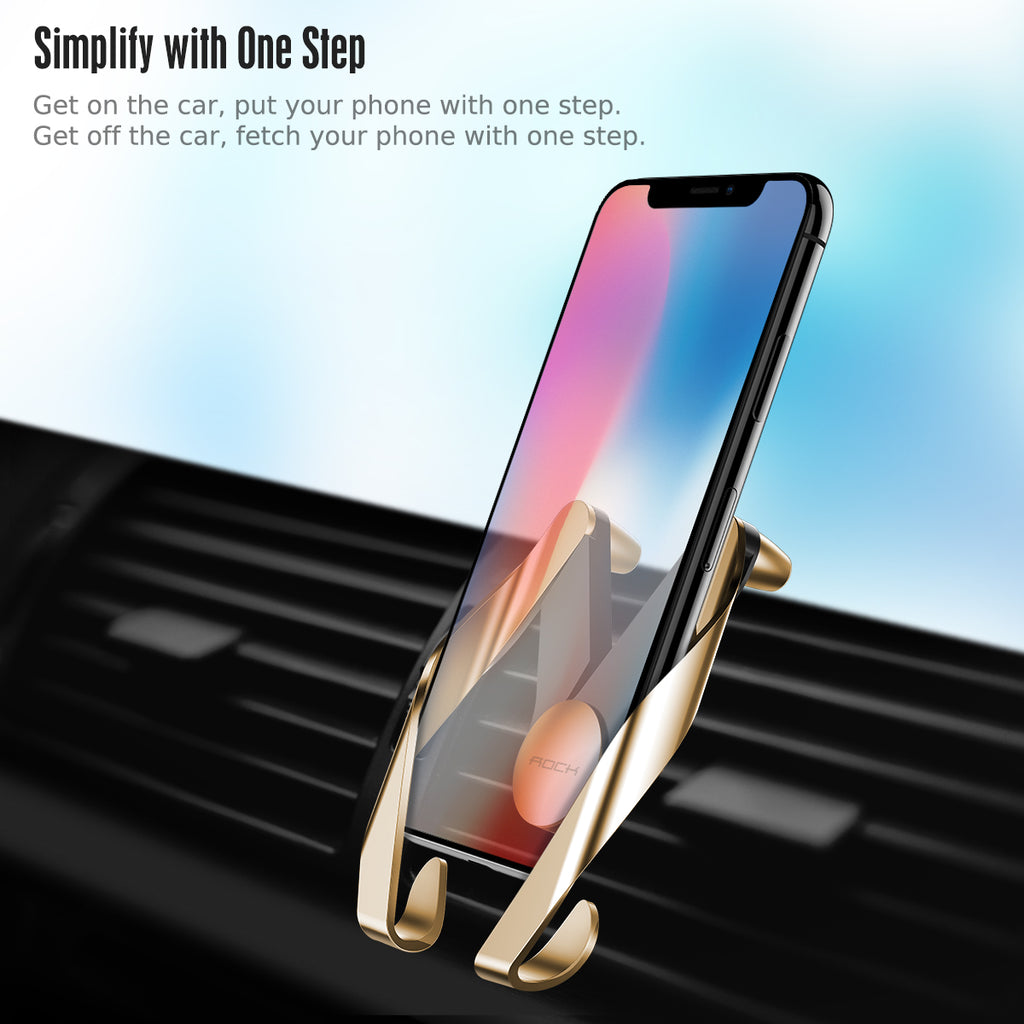 ROCK Autobot 2 Air Vent Car Mobile Phone Holder  Car Air Outlet Adjustable Phone Stand For iPhone Samsung Google Sony LG HUAWEI - Hot Phone Tech