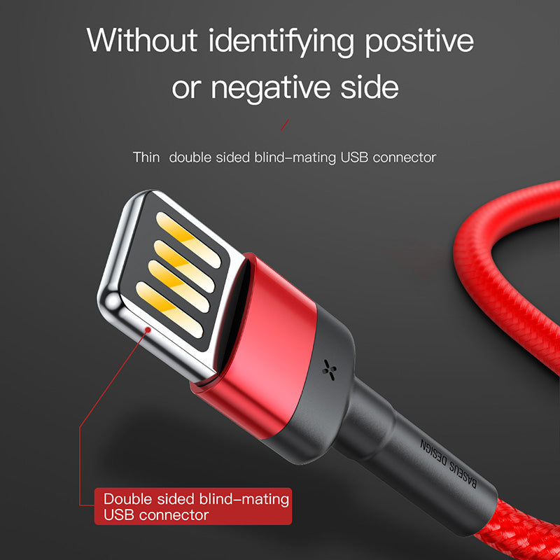 Baseus Upgrade Special Reversible USB Cable For iPhone XS MAX XS XR X USB Charger Cable for iPhone 8 7 6 6s Plus Fast Charging Cable - Hot Phone Tech