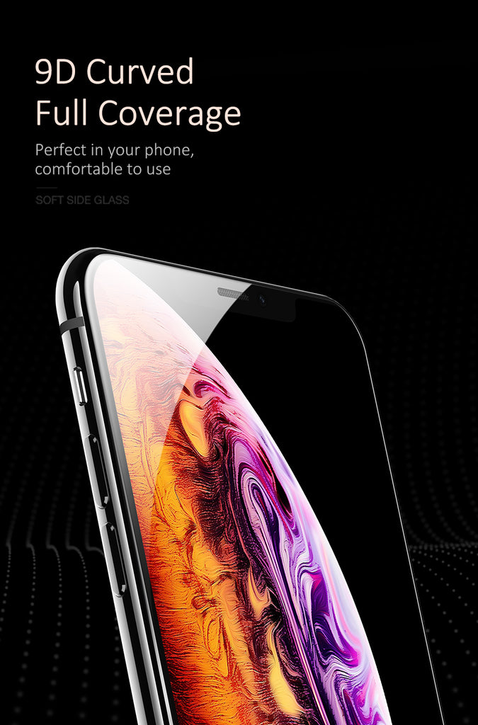 USAMS Screen Protector For iPhone XS Max /XR Film 3D Full Cover Protector 0.25mm Tempered Glass - Hot Phone Tech