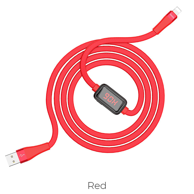 HOCO D-Line2 Lightning Cable Voltage and Current Display Data Sync USB Cable Cord For iPhone X XS Max XR iPad Phone Cables - Hot Phone Tech