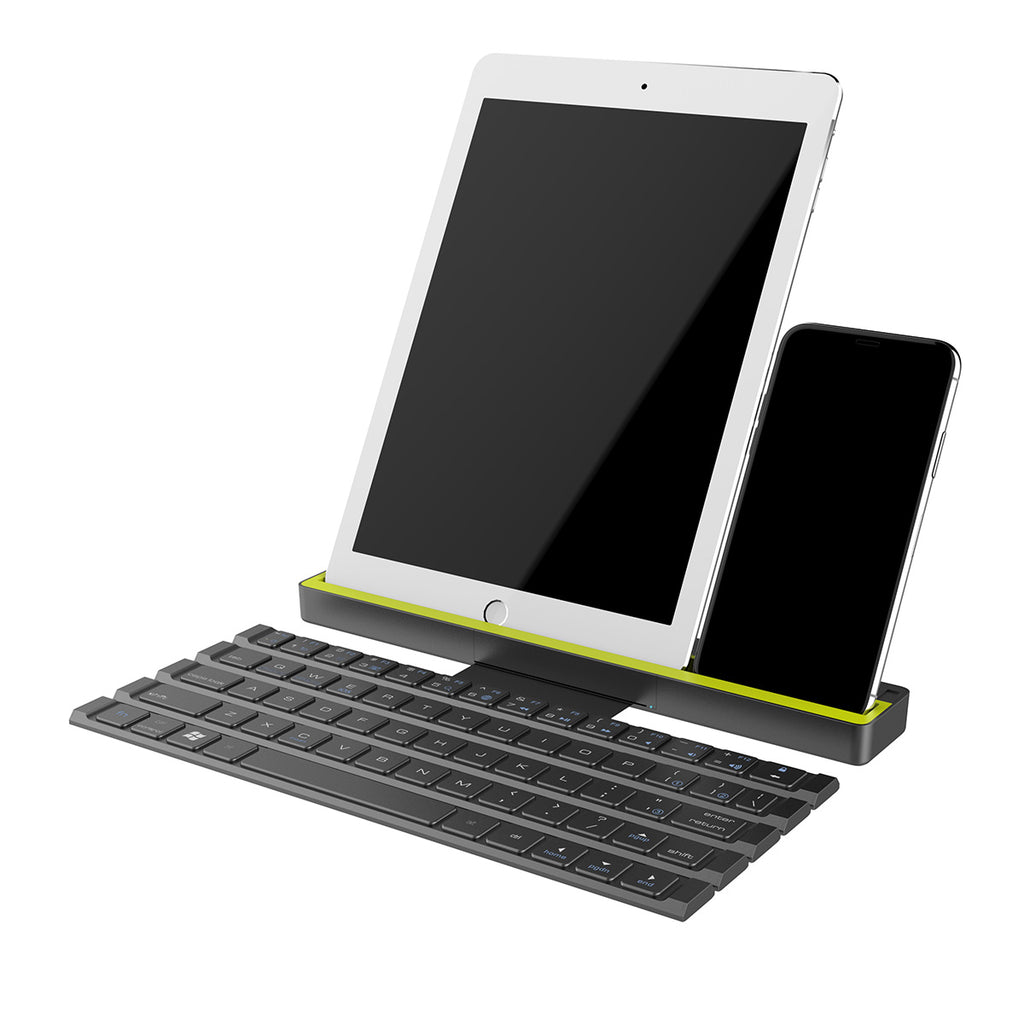 ROCK Foldable Bluetooth Keyboard for iPad Pro Mini Air, ROCK Multi-Function Rollable Bluetooth Keyboard for iPhone Quick to Switch - Hot Phone Tech