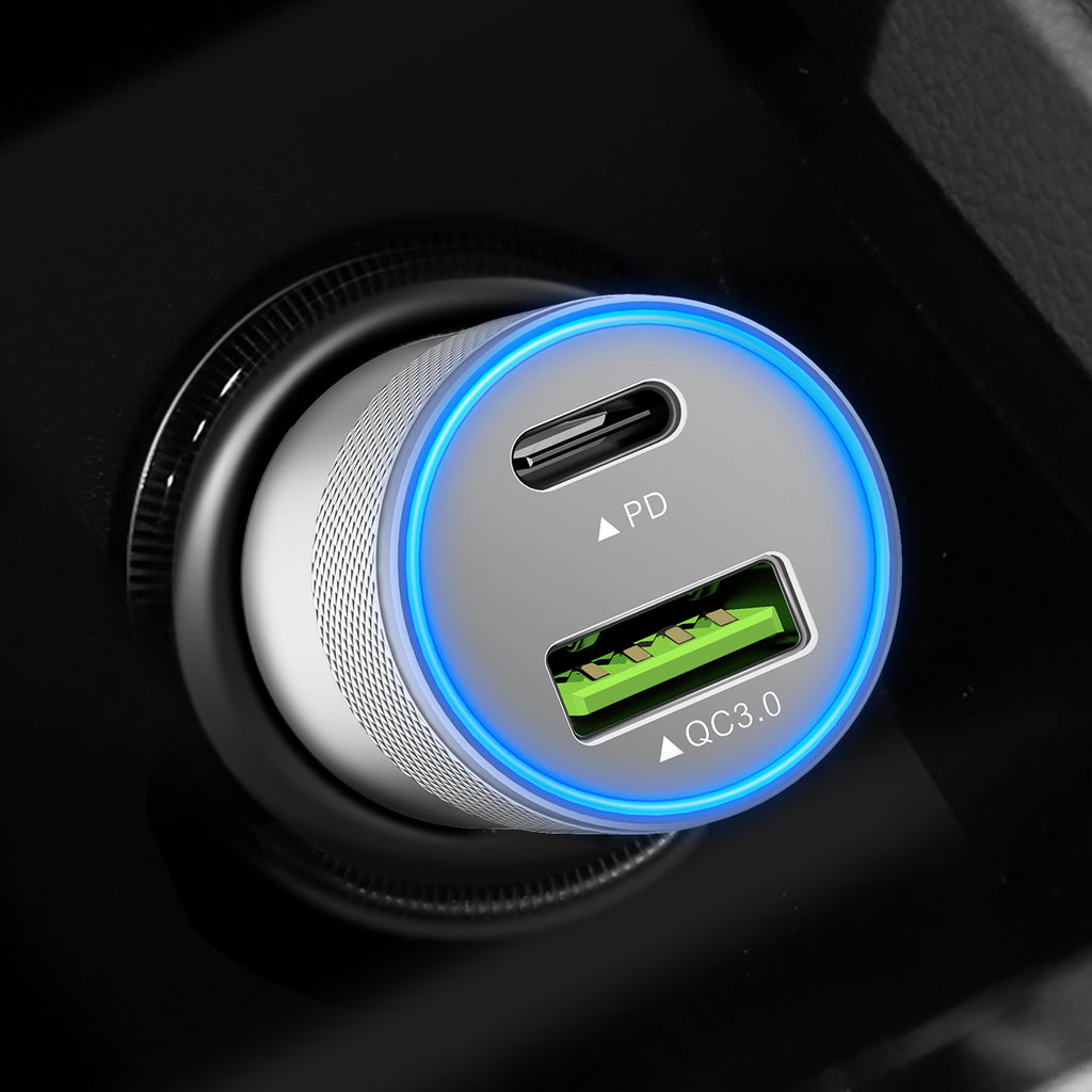 ROCK H5 PD QC3.0 fast charge car charger Dual Charging Protocol Quick Charge 36W power quick Charging Voltage Monitoring For iPhone Google Samsung Sony LG HUAWEI - Hot Phone Tech