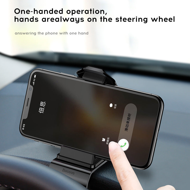 Baseus Dashboard Car Holder for iPhone Samsung HTC Google LG HUAWEI Phone Grip 360 Degree Adjustable Clip Car Mount GPS Mobile Phone Holder Stand - Hot Phone Tech