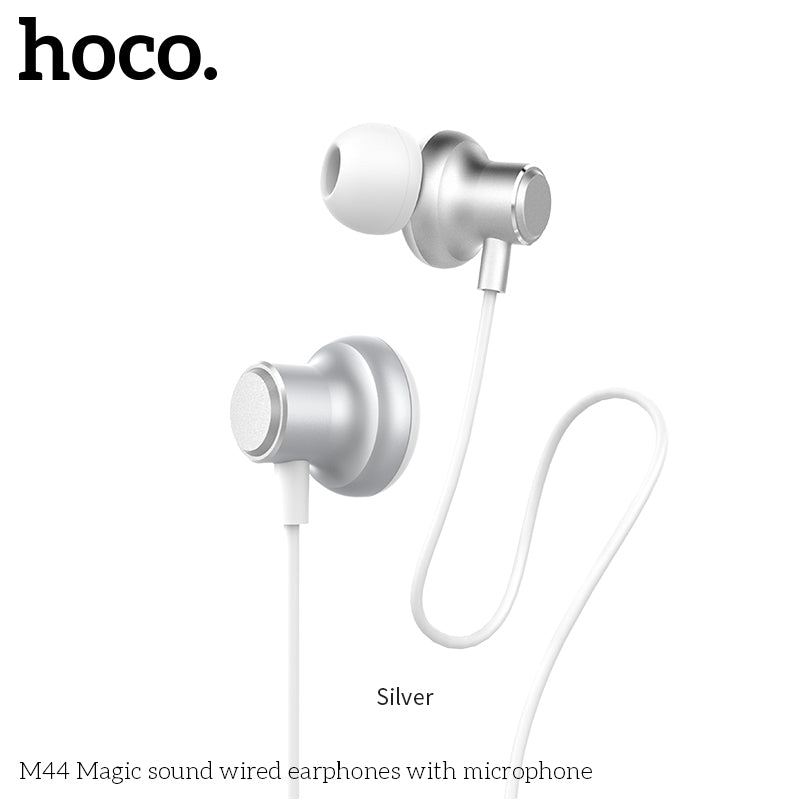 HOCO M44 Earphones 3.5mm Wired Control Earbuds Headset with Microphone for iPhone Samsung Sony Google LG HUAWEI Android Phones High Quality Earphones New - Hot Phone Tech