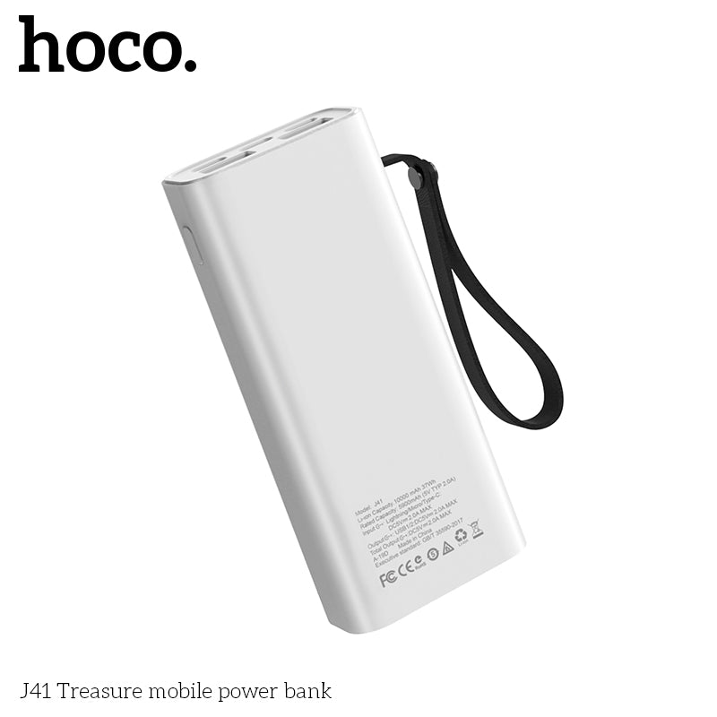 HOCO Power Bank 10000mAh Mini USB LED display External Battery Portable Powerbank For iphone Samsung Sony LG HUAWEI Google  Fast charging with lanyard - Hot Phone Tech