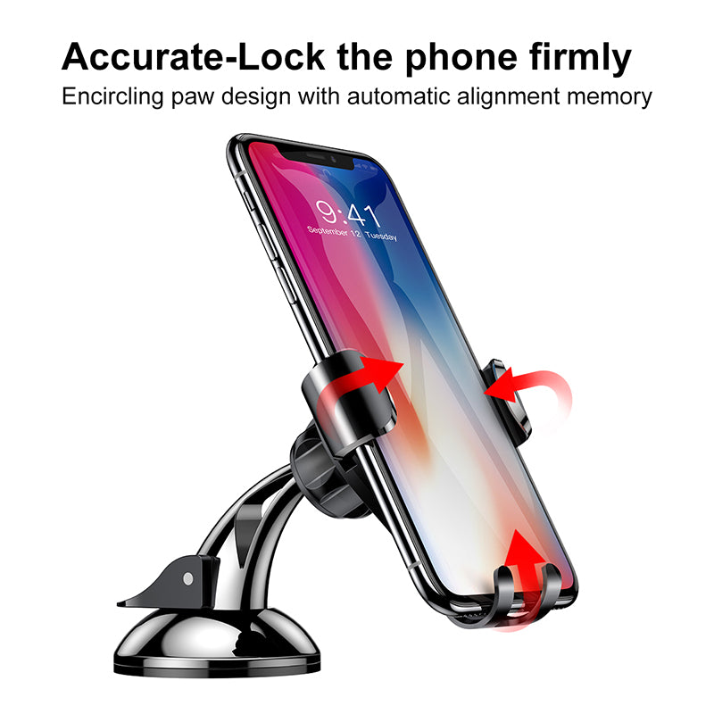 Baseus Phone Car Holder For iPhone Samsung LG HTC Google HUAWEI Mobile Phone Holder Stand for phone Sucker car phone holder Soporte Telefono - Hot Phone Tech