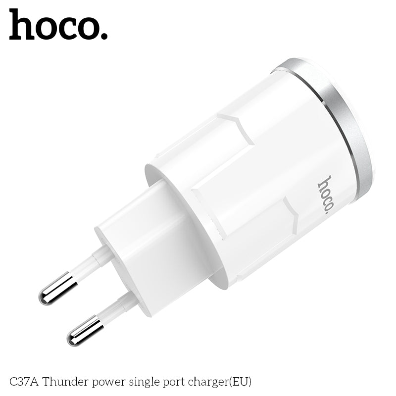 HOCO Universal 5V2.4A USB Charger Adapter With Charging Cable Wall Travel Charger EU UK Plugs Portable for iPhone Sony Google LG Samsung Xiaomi HUAWEI - Hot Phone Tech