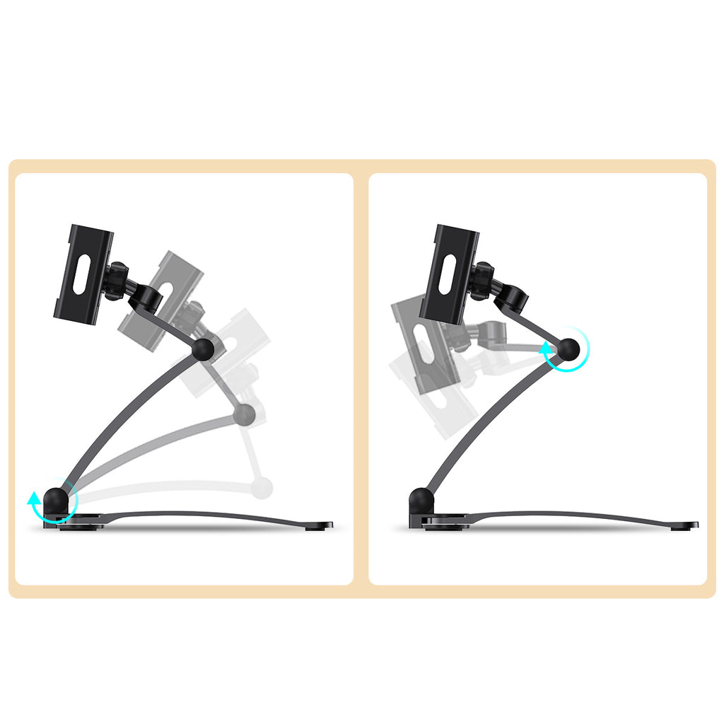 ROCK Adjustable Tablet Phone Holder For iPad 2 3 4 Air Mini Pro For iPhone Samsung Google Sony LG HUAWEI 360 Degree Roating Desktop Stand For 5-10.5 Inch - Hot Phone Tech
