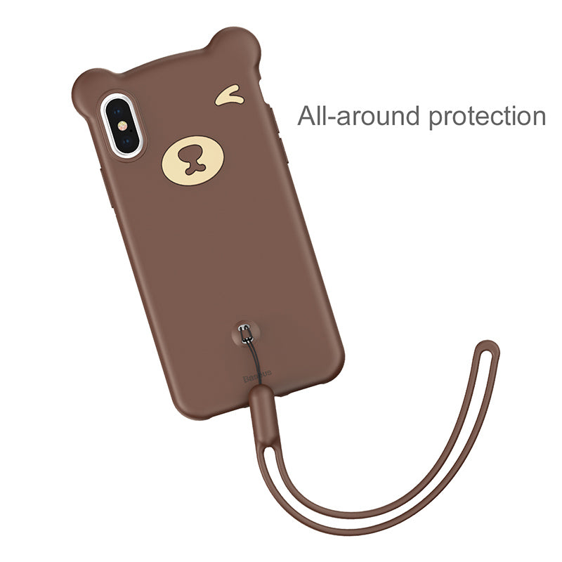 Baseus Bear Cute Case For iPhone XR XS MAX X/XS Soft Silicone Protective Back Cover - Hot Phone Tech