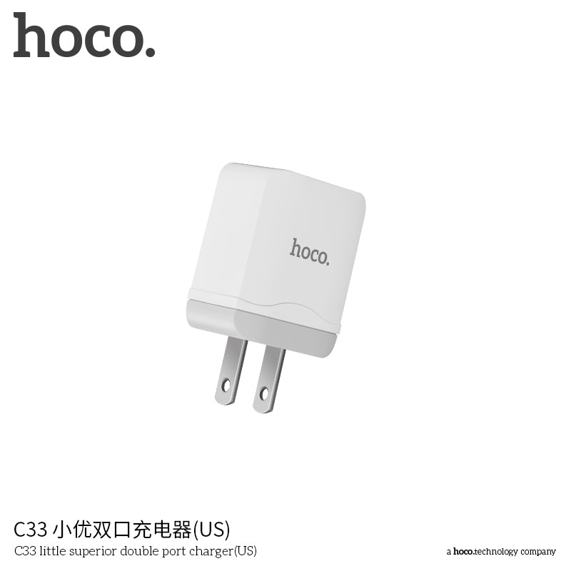 HOCO 5V2.4A Universal Dual USB Wall Charger EU US Plug Portable for iPhone Samsung Google HUAWEI LG Sony Charging Travel Adapter - Hot Phone Tech