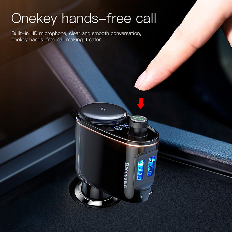 Baseus Car Bluetooth FM Transmitter Car Kit 5V 3.4A Dual USB Car Charger MP3 Audio Player Car Charger Mobile Phone Charger - Hot Phone Tech