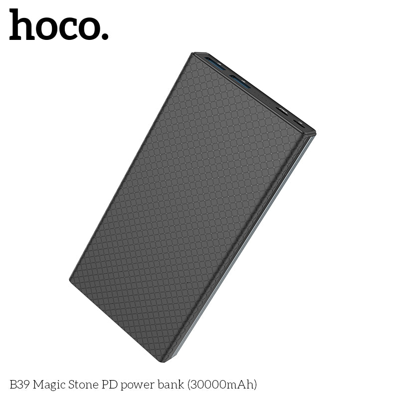 HOCO 30000mAh Power bank 18W USB Type C External Batteries QC3.0 PD Two-way Fast Charging Powerbank LED Display Mobile Charger For iPhone Google LG Samsung Sony HUAWEI - Hot Phone Tech
