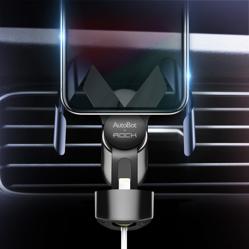 ROCK Autobot M Pro Charging Car Phone Holder Car Mount Air Vent Mount Mobile Holder for Samsung iPhone Sony Google LG HUAWEIholder - Hot Phone Tech