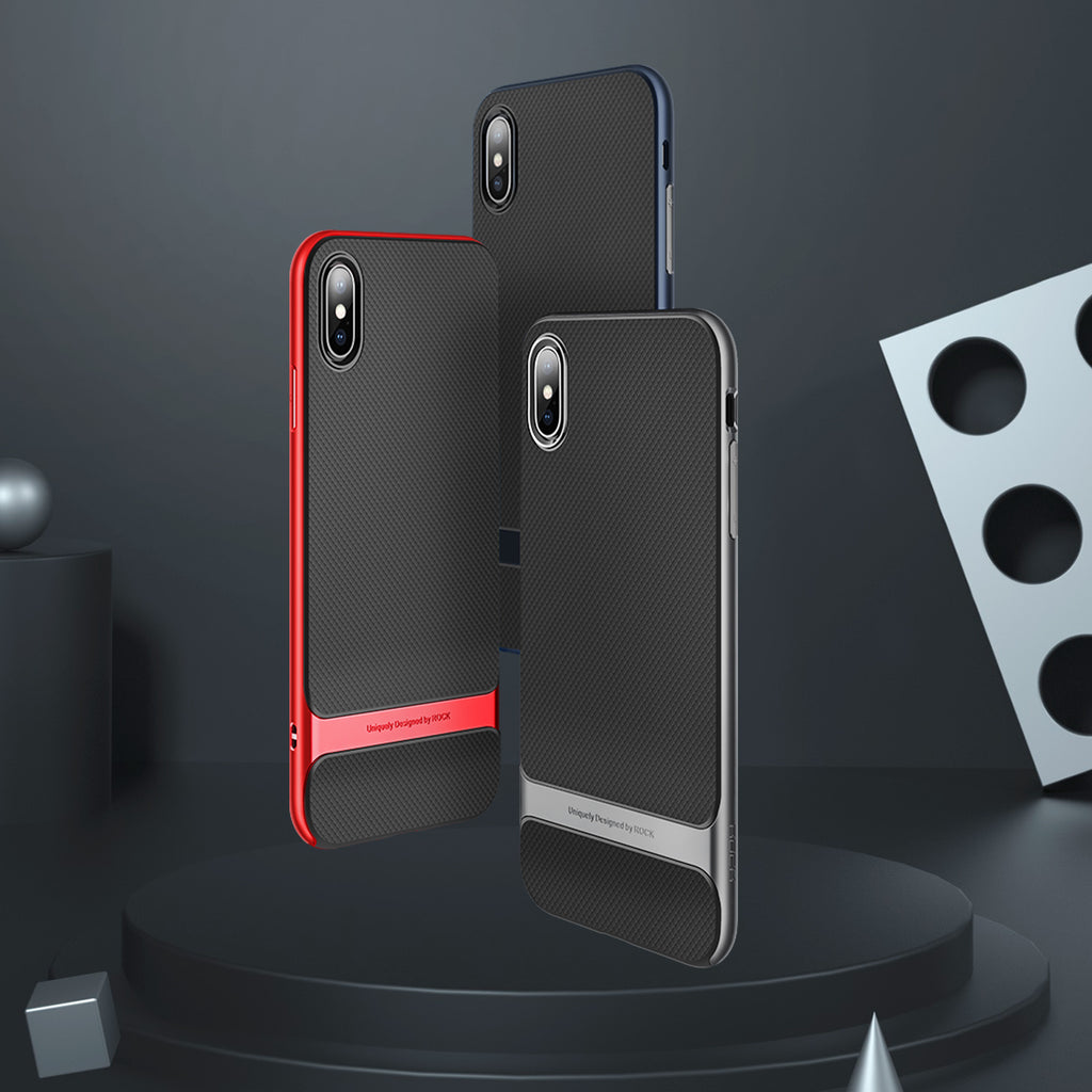 ROCK Case for iPhone X/XS Cover Royce Anti-knock Case Ultra Slim Armor Cover Coque Hard PC+Soft TPU Back Cases Fundas - Hot Phone Tech