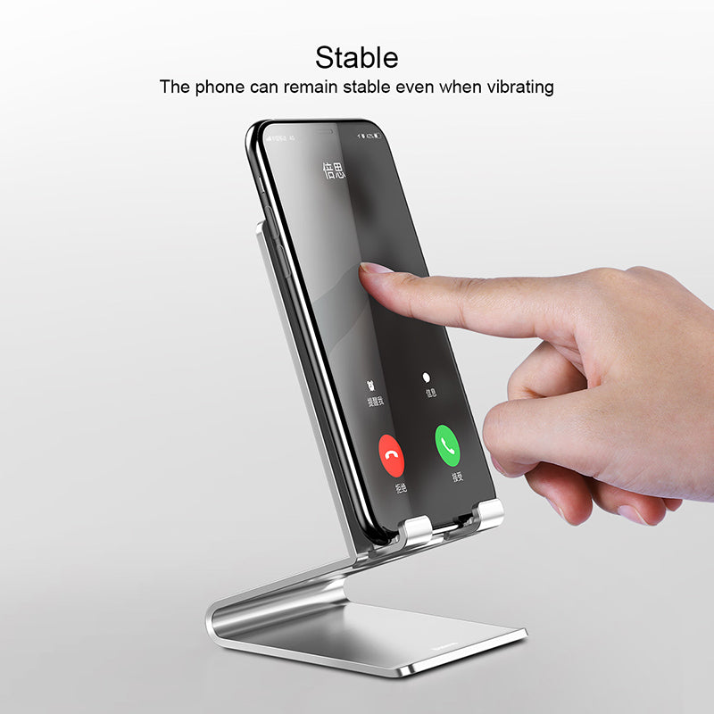 Baseus Metal Desktop Mobile Phone Tablet Holder Universal No-slip Stand for iPhone iPad Samsung LG Google Smart Phone Desk Holder Stands - Hot Phone Tech