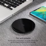 Baseus 10W Wireless Charger Ultra Slim Glass Quick Fast Charging Pad with Type-C Charging Cable Cord for Huawei Samsung Google LG iPhone XS MAX XS X 8 - Hot Phone Tech