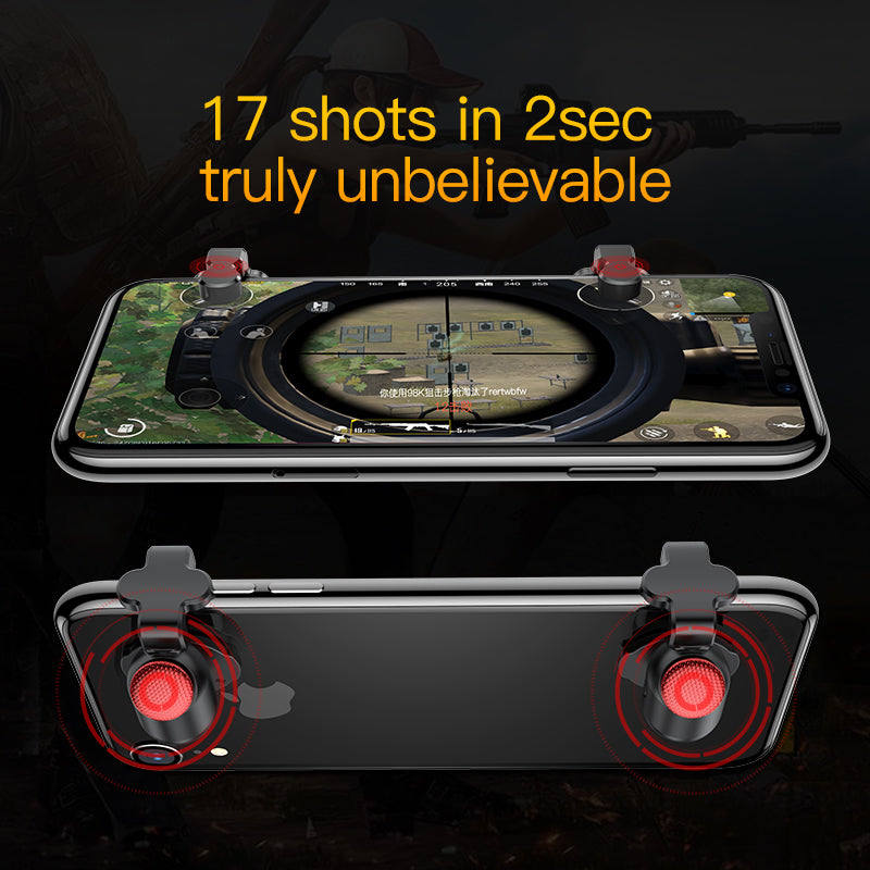 Baseus for PUEG Game Gamepad L1 R1 Gamepad Trigger for iPhone XR Xs Max Aim Fire Button for 4.0-6.5inch Mobile Phone Accesorios - Hot Phone Tech