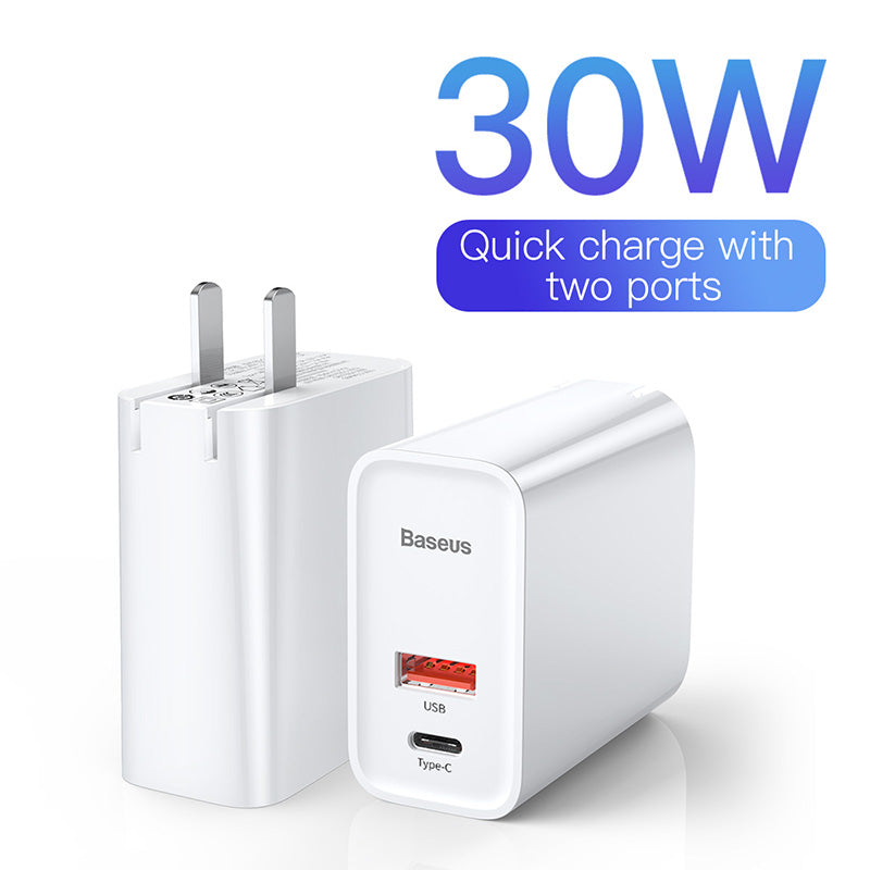 Baseus USB C USB Charger Quick Charger 3.0 Adapter EU US 5A Mobile Phone Charging Travel Wall Charger For iPhone Samsung LG Google HTC HUAWEI ALL Android Device - Hot Phone Tech