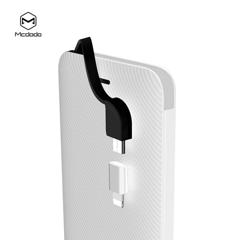 MCDODO Portable Power Bank Case  With Cable  Power Bank Case Mobile Phone Charger DIY Shell For iPhone Samsung Sony LG HUAWEI Google - Hot Phone Tech