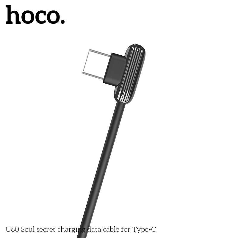 Hoco usb Type C Charging Cable Data SYNC Charger 90 Angled Reversible Connectors Gaming Wire Adapter USB C Type-C For Samsung LG Google HUAWEI HTC ALL Android - Hot Phone Tech