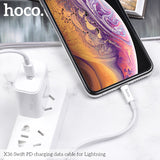 HOCO Charging Cable Type-C To Lightning PD fast Charge For iPhone XS MAX XS XR 8 3A 18W Charger Wire USB C Charging  Quick Charge - Hot Phone Tech