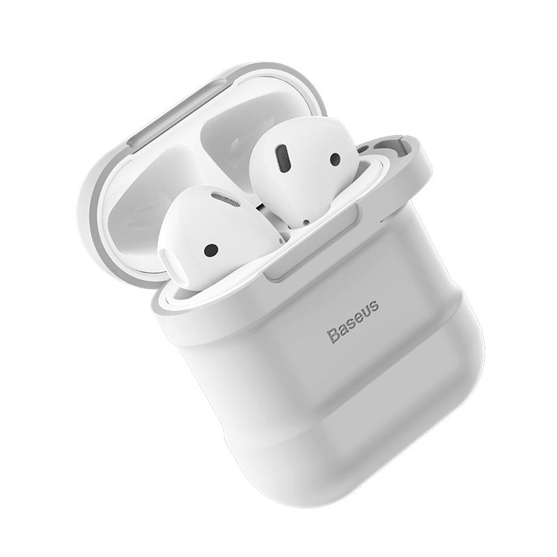 Baseus Earphone Silicone Protective Cover & Receiving box & Anti Lost Strap & Ear Cover Hooks for Apple AirPods Case Accessories - Hot Phone Tech