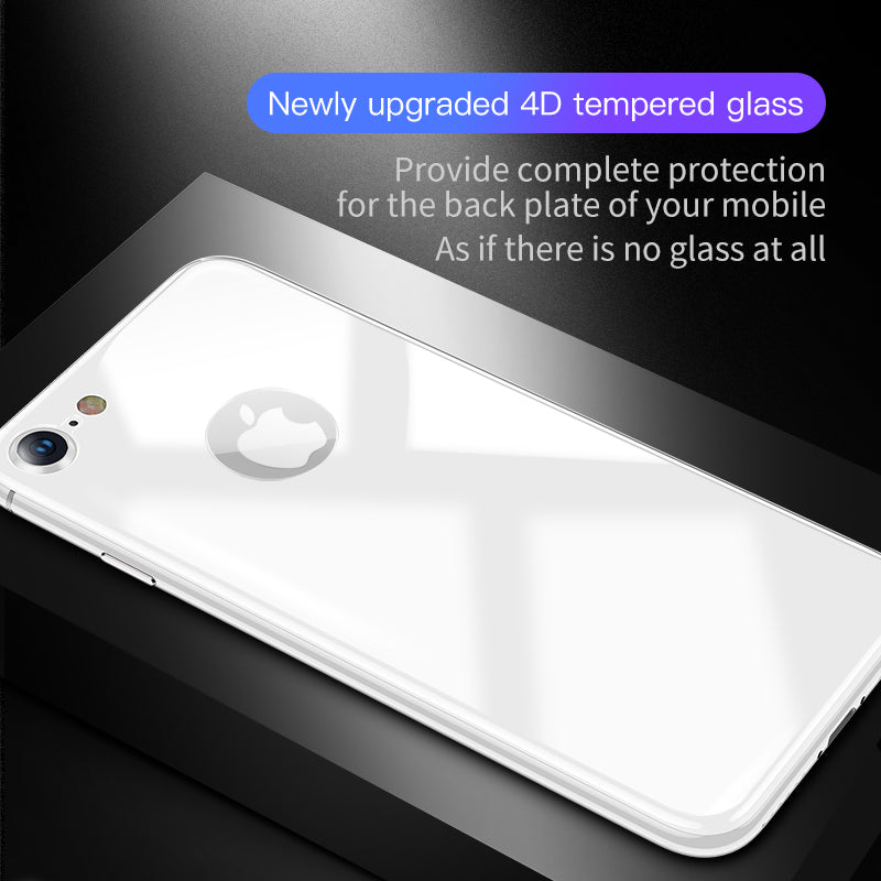 Baseus 0.3mm 4D Back Screen Protector For iPhone 8 8 Plus Back Film 9H Rear Tempered Glass Anti-Scratch Protective Glass Film - Hot Phone Tech