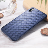 ROCK For iPhone X Case Soft Braid Case Back Cover Weave Protector Slim Thin Interlaced TPU Shell - Hot Phone Tech