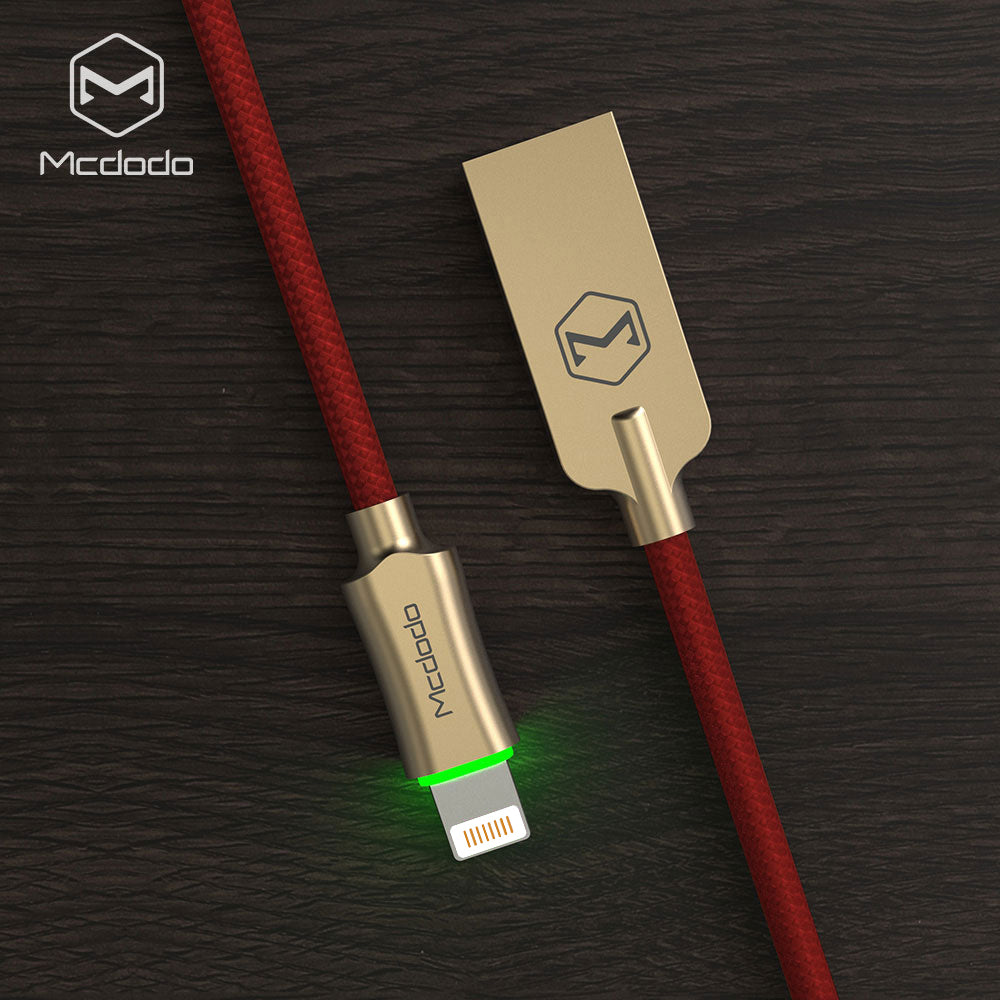 Mcdodo knight Series LED AUTO-Disconnect USB Cable Fast Charging Cable Mobile Phone Charger Cord Usb Cable For iPhone Apple X XS MAX XR 8 7 6 6s plus - Hot Phone Tech