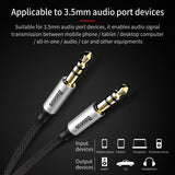 Baseus M30 Aux Cable Jack 3.5mm Male to Male 3.5 mm Audio Cable Adapter for Car Headphone Speaker Computer Laptop Wire Aux Cord - Hot Phone Tech