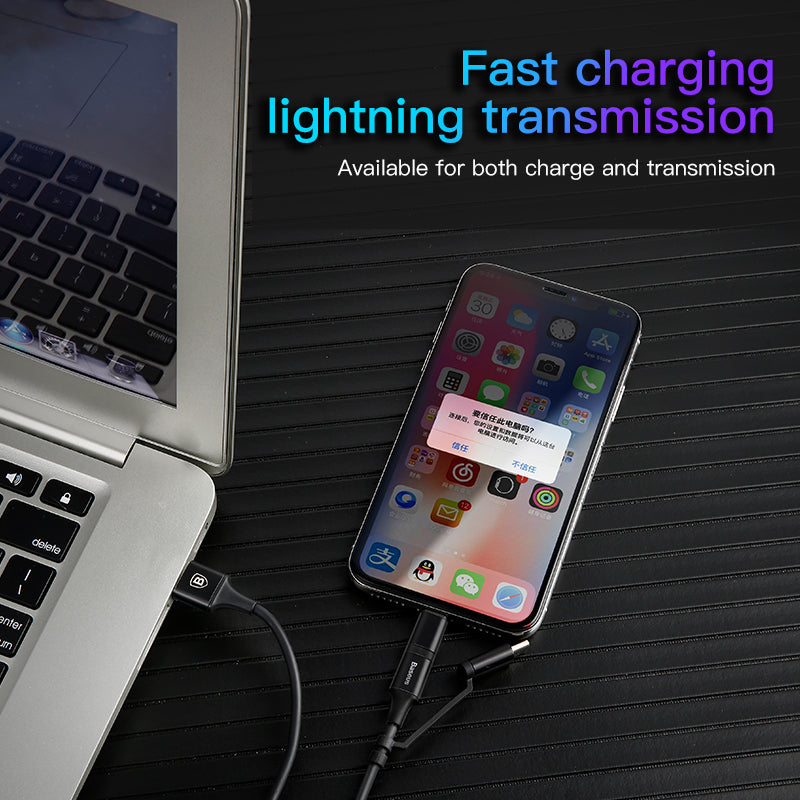 Baseus 3 in 1 USB Cable For iPhone Micro USB Type C Mutil Charger Cable For iPhone XS MAX XS XR  X 8 7 Samsung Google LG HUAWEI HTC  Android Phone Cables - Hot Phone Tech