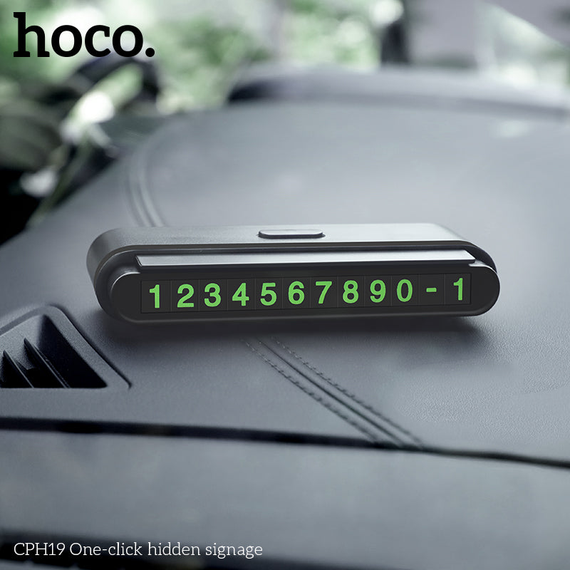 HOCO Car Temporary Parking Card Phone Number Card Plate Telephone Number Car Park Stop Automobile Accessories Car-styling - Hot Phone Tech