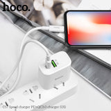 HOCO 18W PD Charger for iPhone 8 8Plus X XR XS XS MAX Mobile Phone QC3.0 PD USB Charger Adapter for iPad Pro Mini 5 iPad Air 3 - Hot Phone Tech