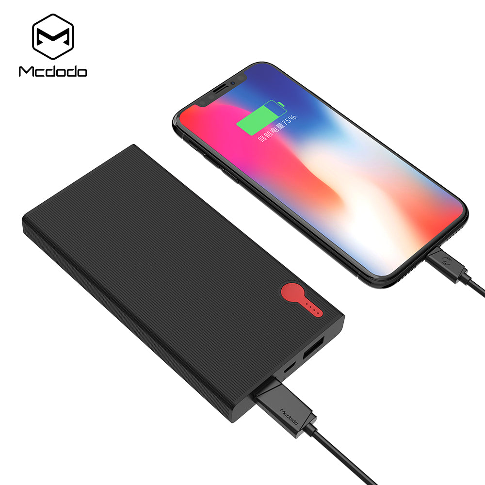 Mcdodo 10000mAh Power Bank For iPhone Samsung Huawei All Smartphone Type C PD Fast Charging + Quick Charge 3.0 USB Powerbank External Battery - Hot Phone Tech