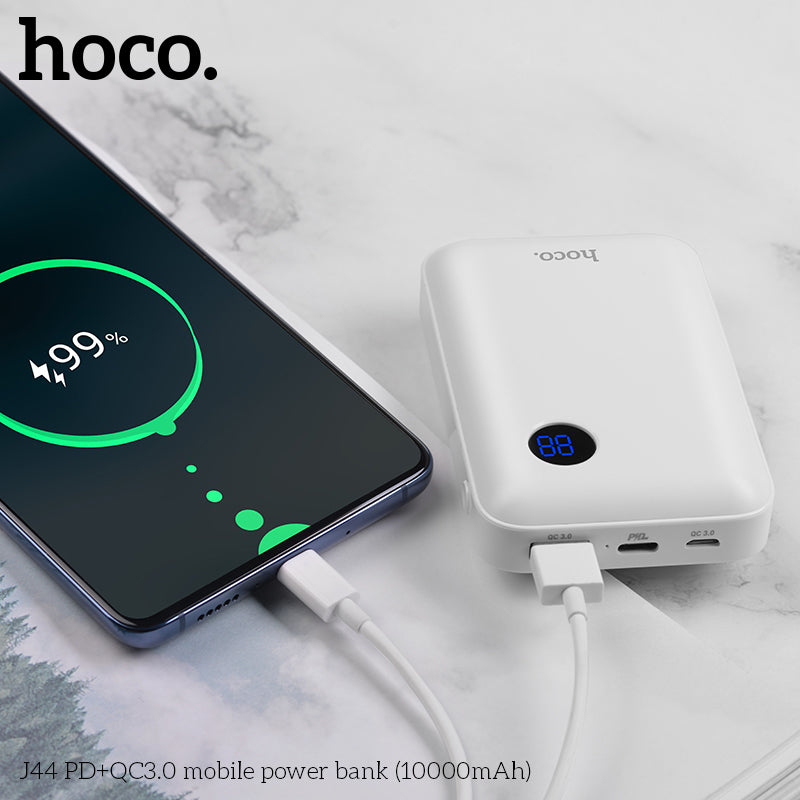 HOCO Mini 10000mAh Power Bank 18W USB Type C PD Fast Charging+Quick Charge 3.0 USB Powerbank External Battery for iPhone Samsung Sony LG Google LG - Hot Phone Tech